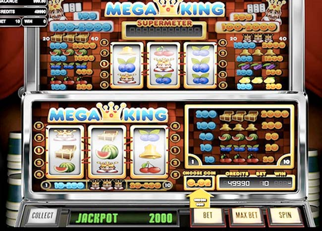 Mega King Slot Header