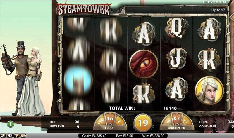 Steam Tower NetEnt