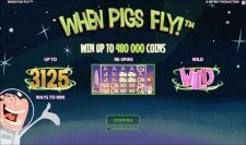 When Pigs Fly NetEnt